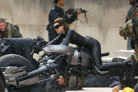 """Photo from the set of the film """"The Dark Knight: The Renaissance of the Legend"""""""
