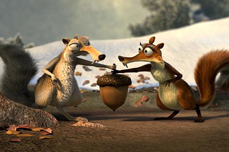"""За кадром: Третья часть франшизы  """"Ледниковый период """", выходит в формате Digital 3d.  Руководство Fox обещает еще и..."""