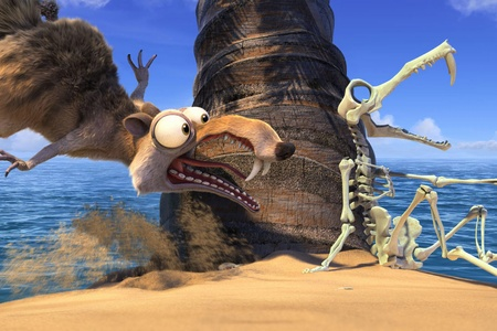 """Shot from the film """"Ice Age 4: Continental Drift"""""""