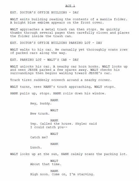 """В интернете всплыл сценарий пятого сезона """"Во все тяжкие"""""""