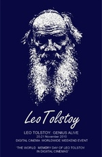 """Постер к фильму """"Лев Толстой: Живой Гений"""" (2010)"""