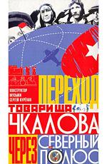 """Постер к фильму """"Переход товарища Чкалова через Северный полюс"""" (1990)"""