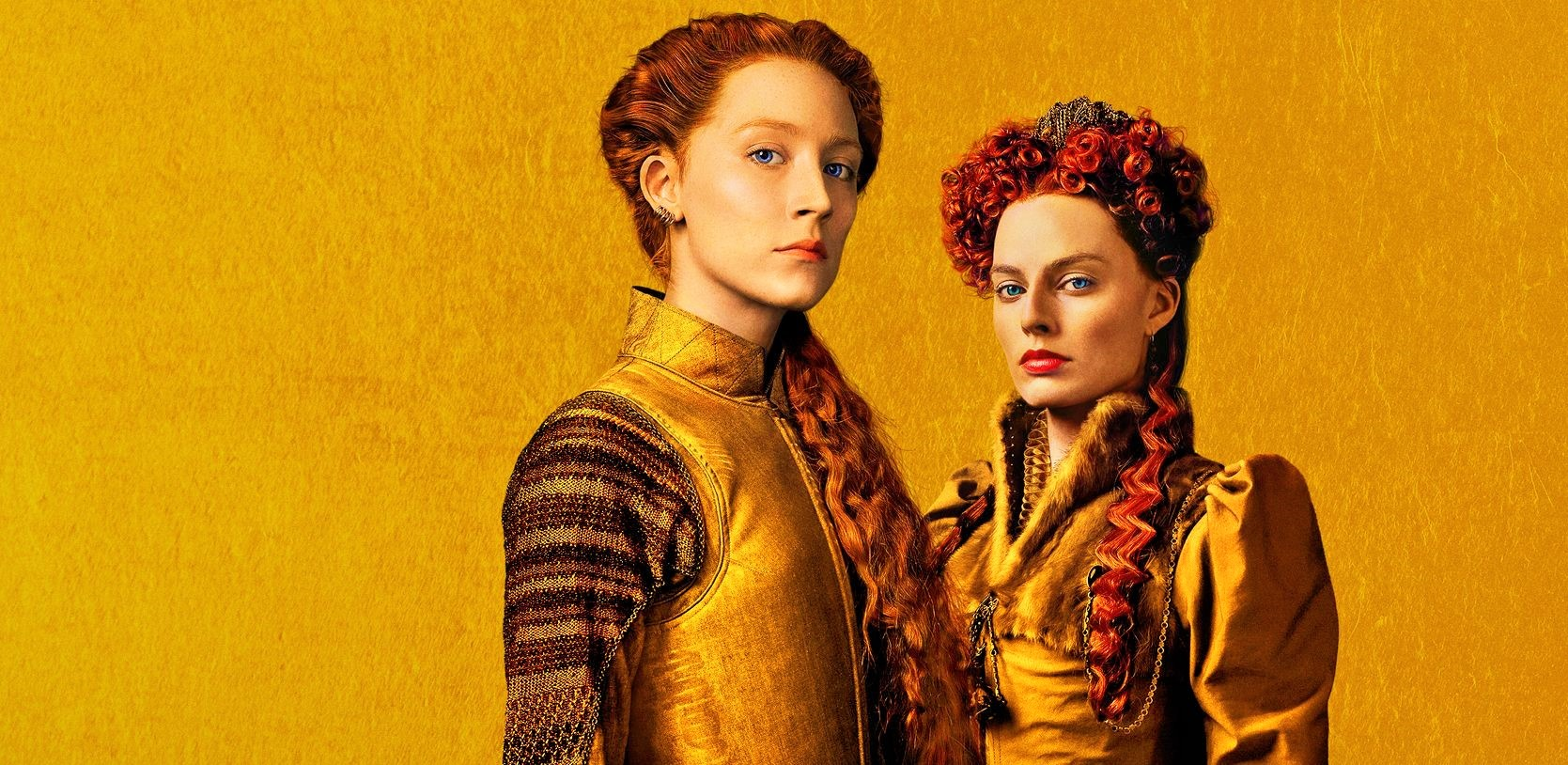 Марго Робби в образе Елизаветы I на кадрах из «Двух королев»