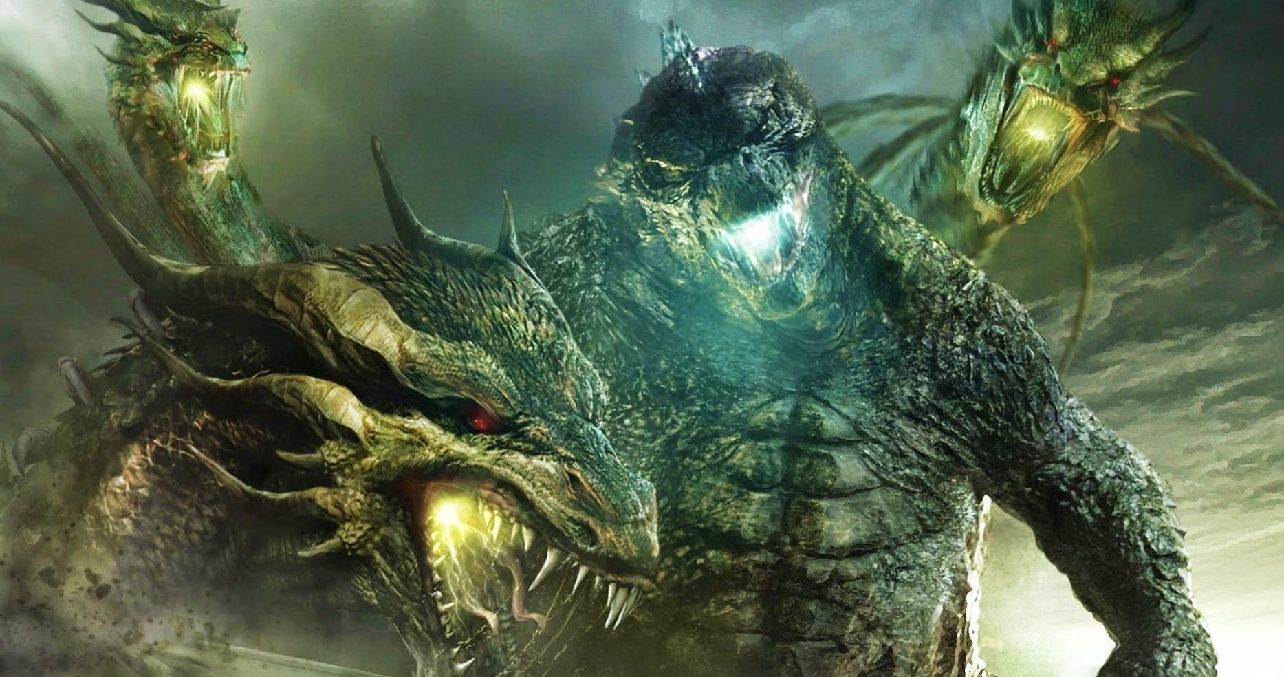 Трёхглавый Гидора на кадре из «Годзиллы: Король монстров»