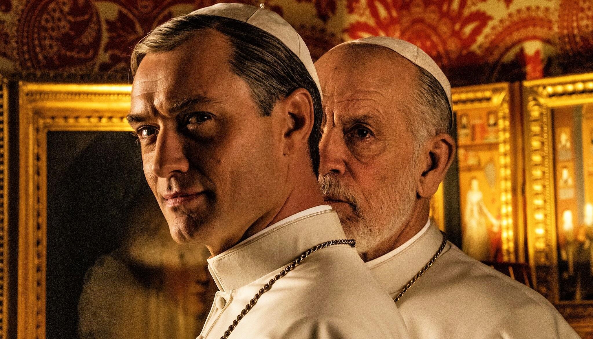 Первый взгляд на Джуда Лоу и Джона Малковича в сериале «Новый Папа»