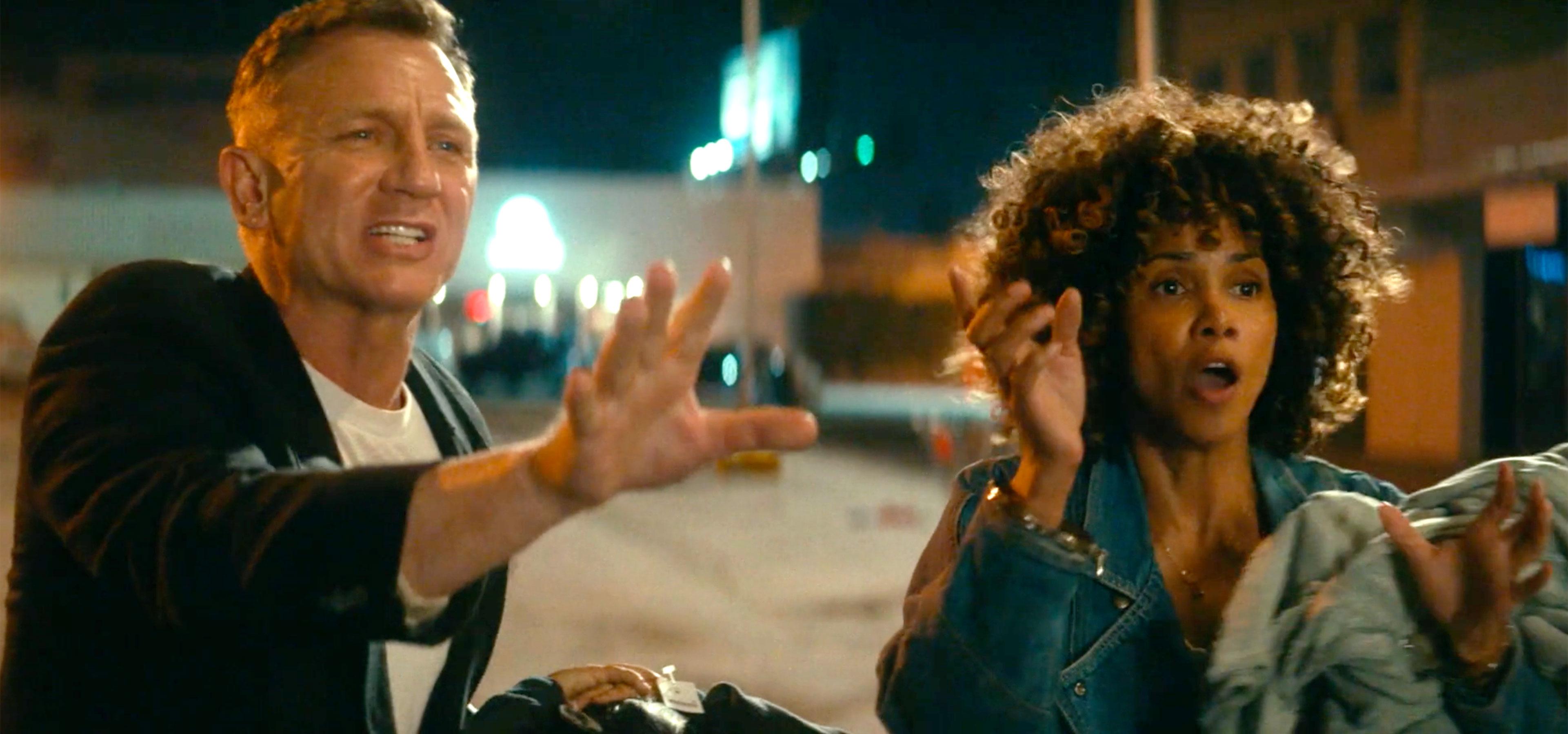 Дэниэл Крэйг и Холли Берри в трейлере «Лос-Анджелеса в огне»