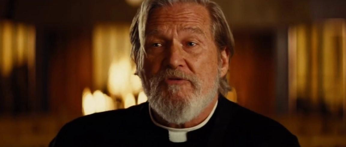 Отрывок из «Ничего хорошего в отеле Эль Рояль» с Бриджесом в образе священника