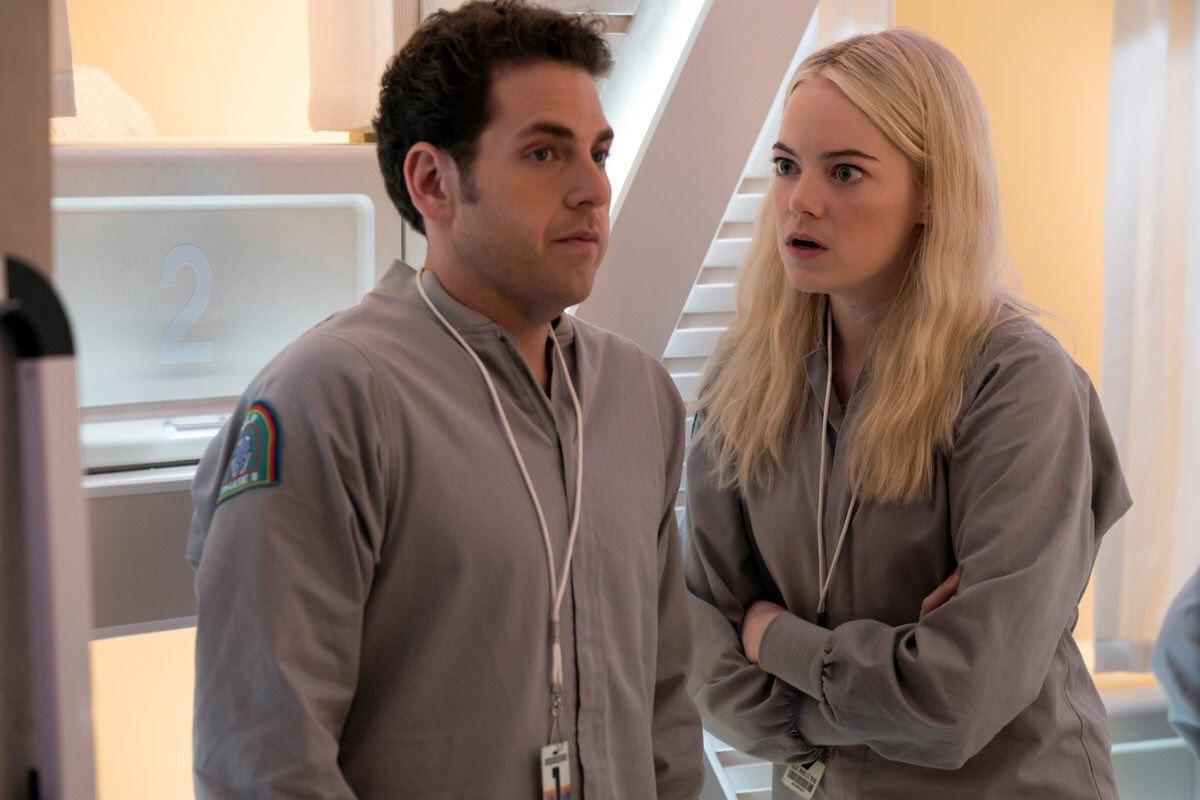 Джона Хилл и Эмма Стоун в первом трейлере сериала «Маньяк».