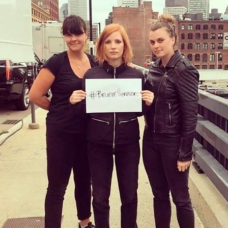 Натали Портман, Мишель Монахэн и Джессика Честейн выступили в новой акции против домогательств