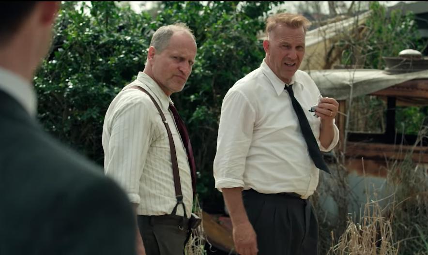 Вуди Харрельсон и Кевин Костнер в трейлере «Разбойников»