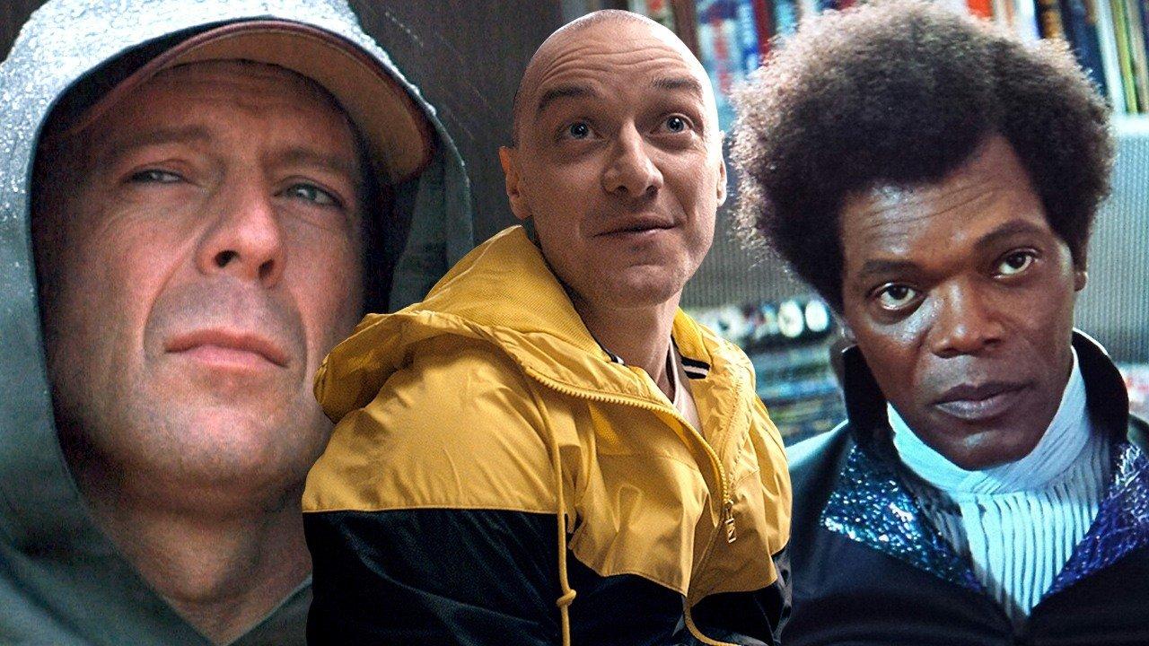Постеры триллера «Стекло» с Джексоном, МакЭвоем и Уиллисом