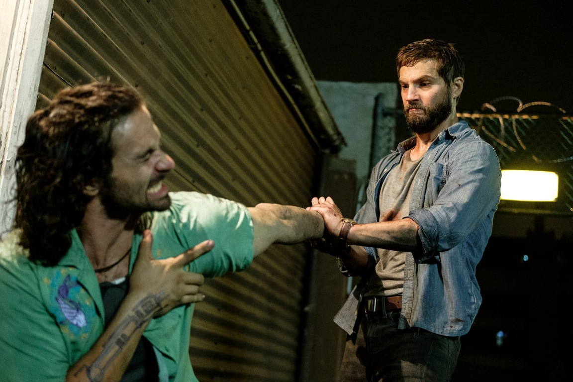 "Shot from the movie ""Upgrade"""