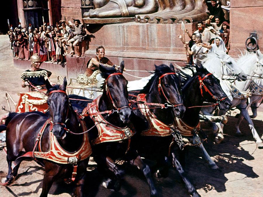 "Shot from the film ""Ben-Hur"""