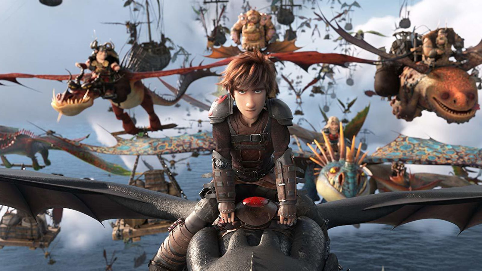 "A frame from the cartoon ""How to Train Your Dragon 3"""