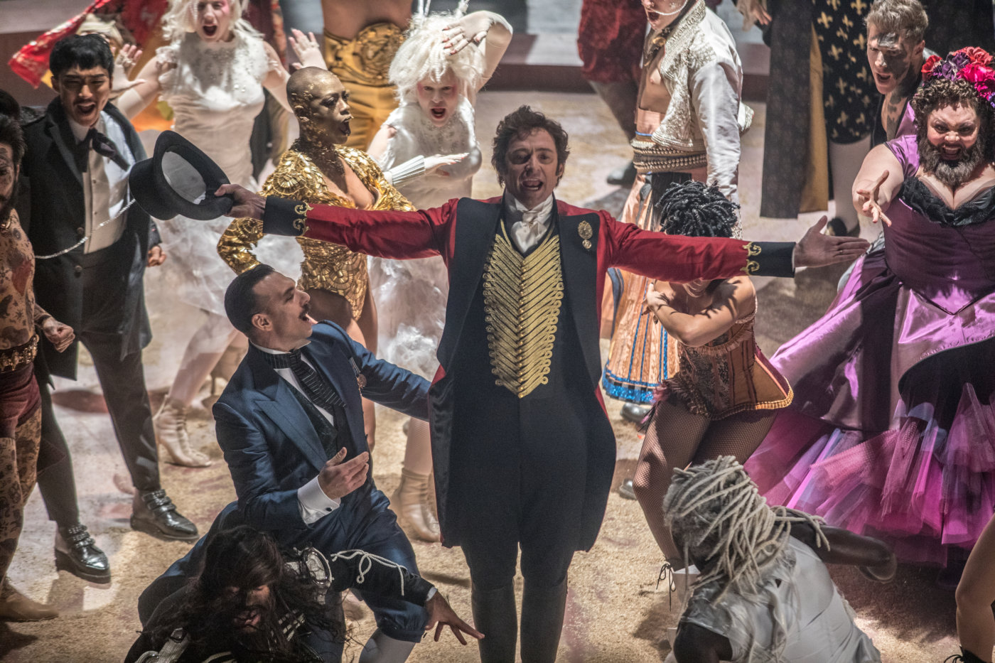 "Shot from the film ""The Greatest Showman"""