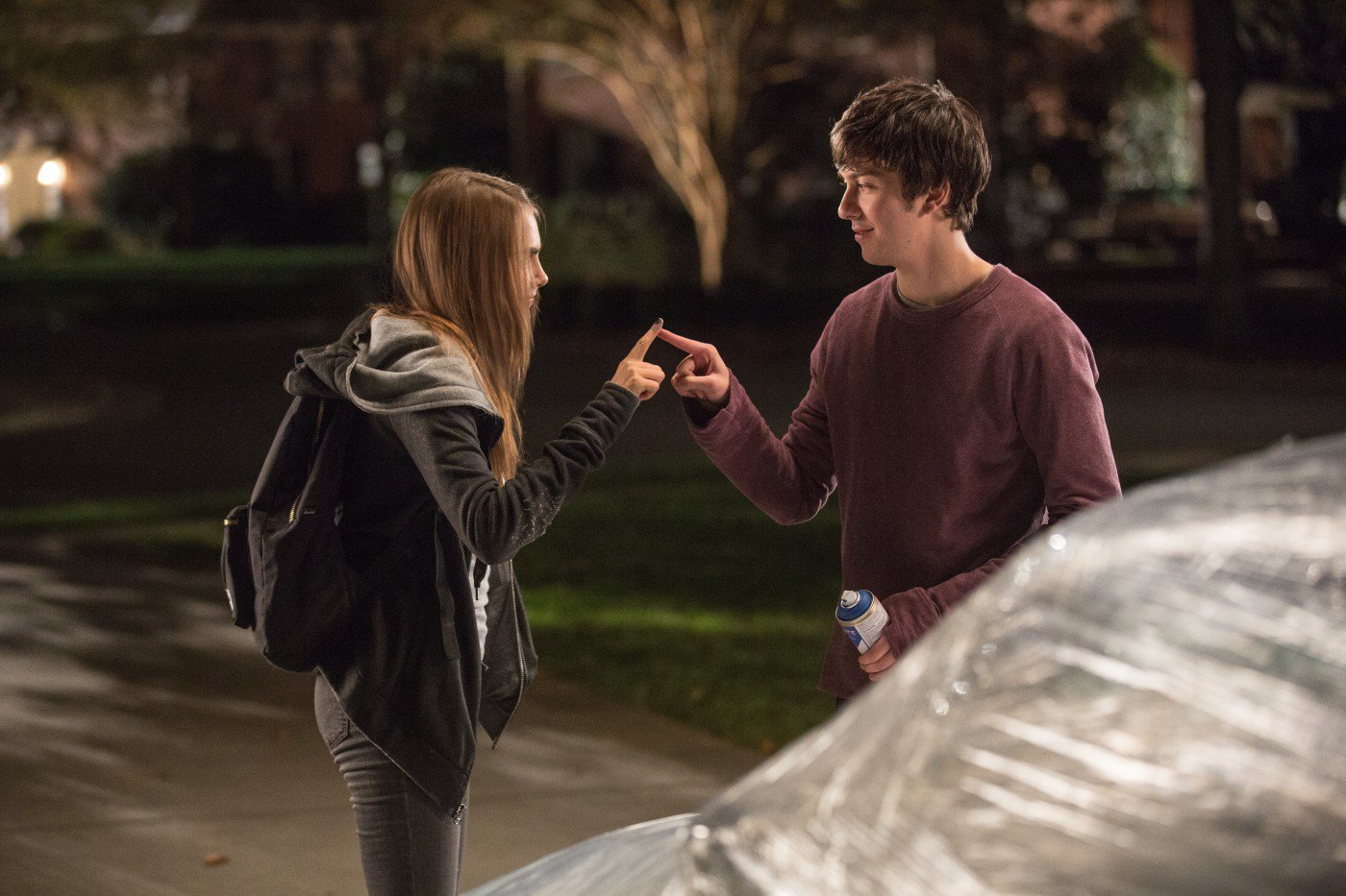 paper towns part 1 strings : what was the first thing margo said when she snuck into q's room, how many problems did margo said she had to deal with that night, what 3 mainly thi.