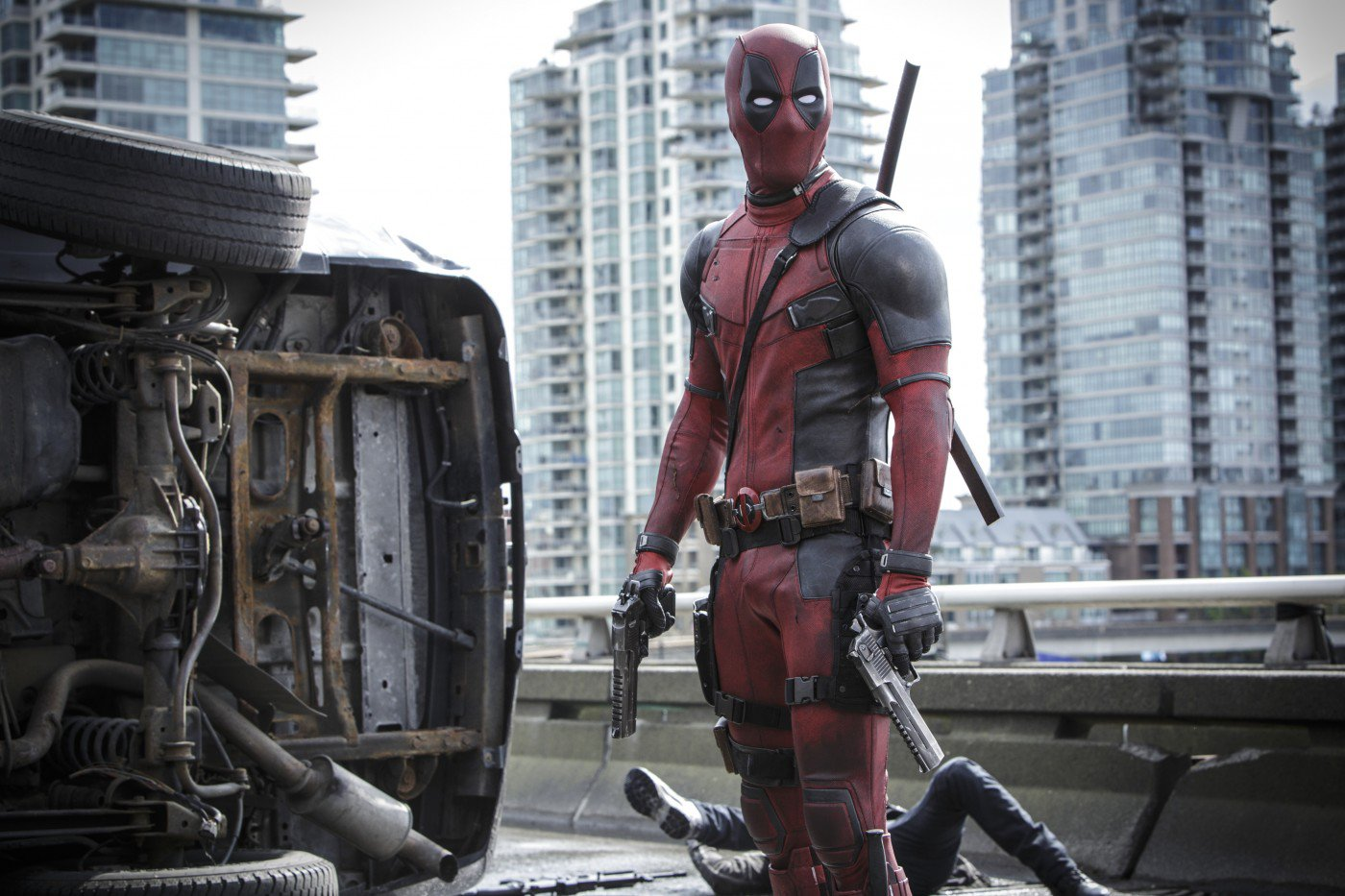 "Shot from the movie ""Deadpool"""