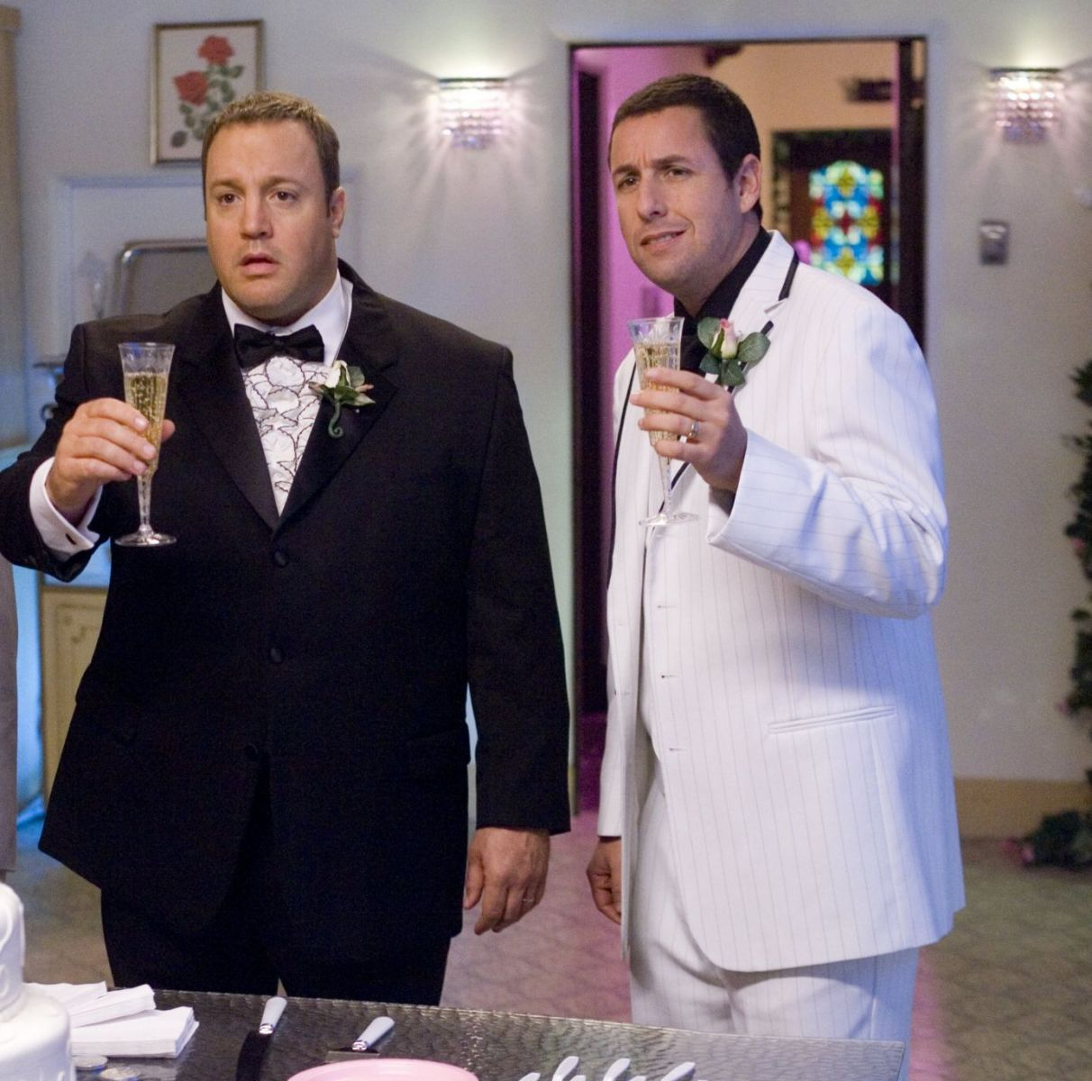 "Shot from the movie ""Chuck and Larry: Fire Wedding"""
