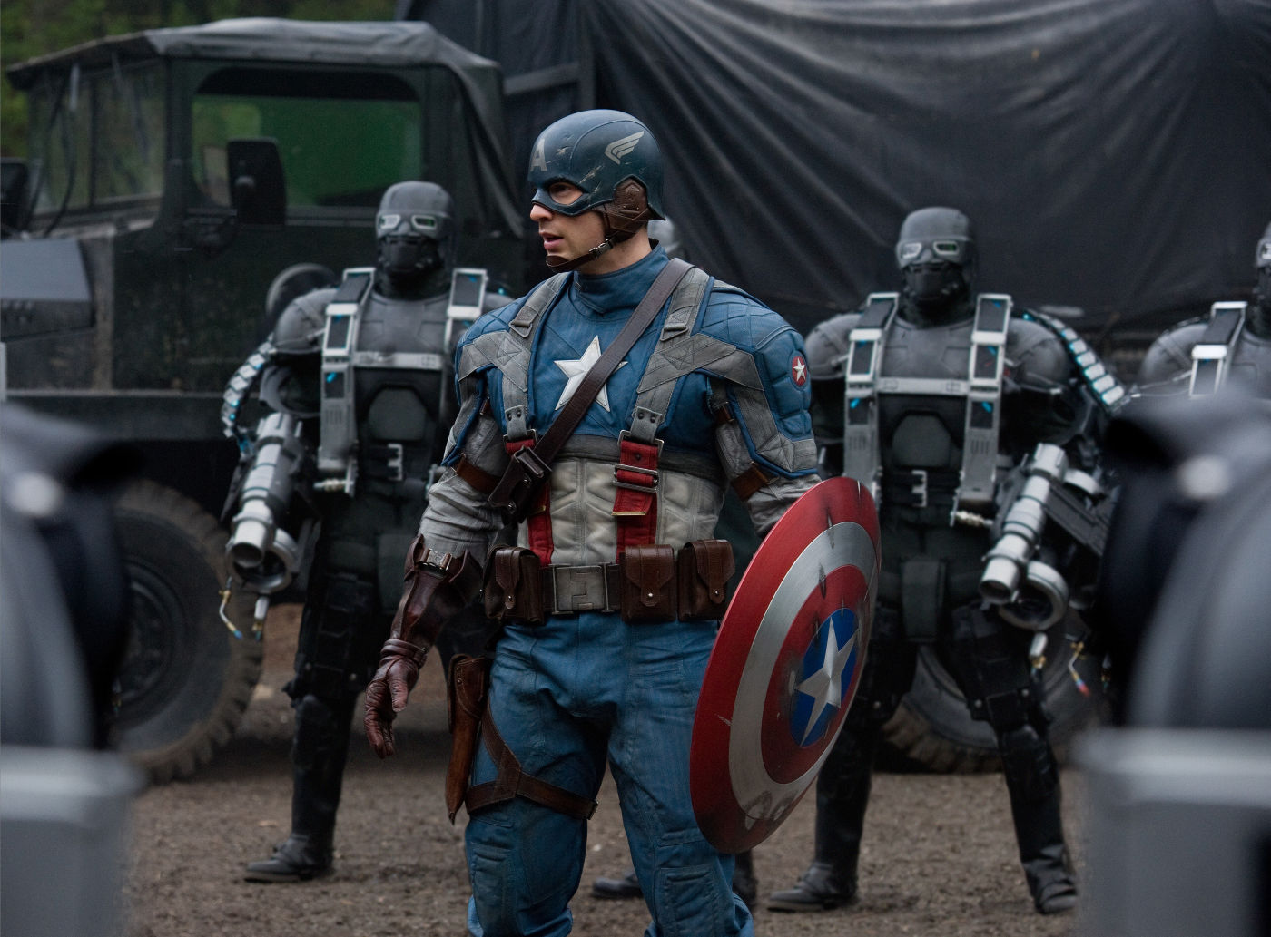 "Shot from the film ""The First Avenger"""
