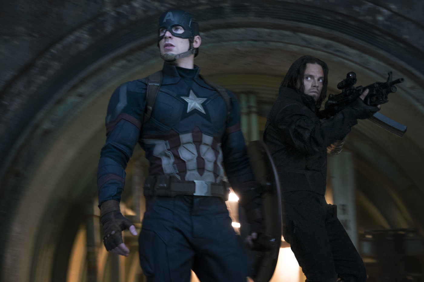 """Shot from the film """"The First Avenger: Confrontation"""""""