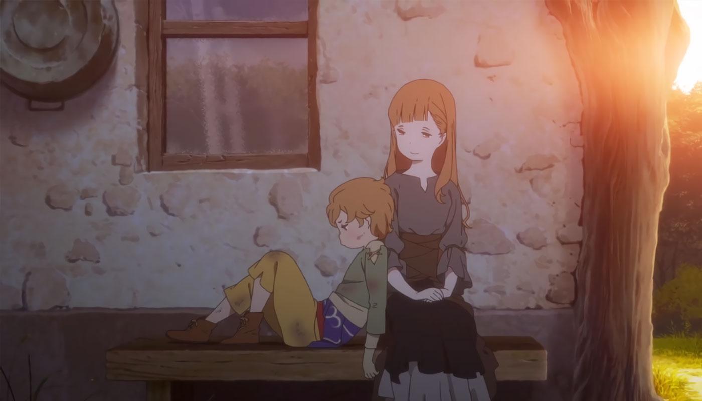 Кадр из мультфильма «Укрась прощальное утро цветами обещания»