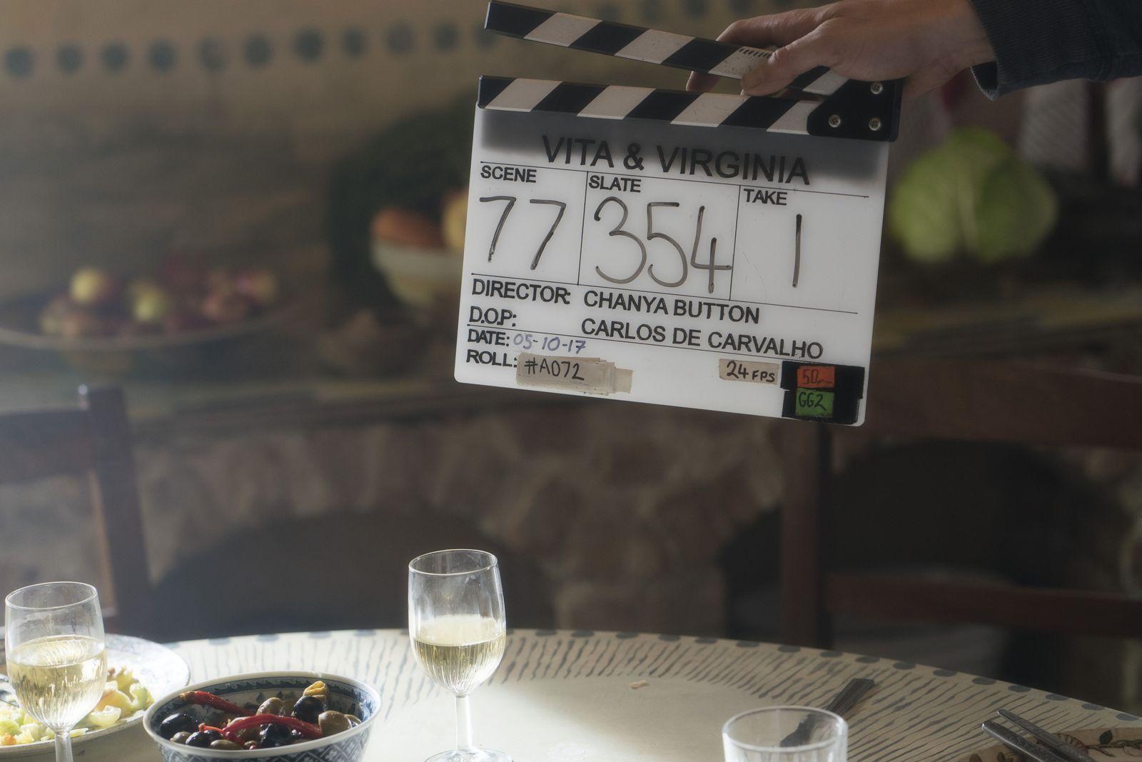На съемочной площадке фильма «Вита и Вирджиния»