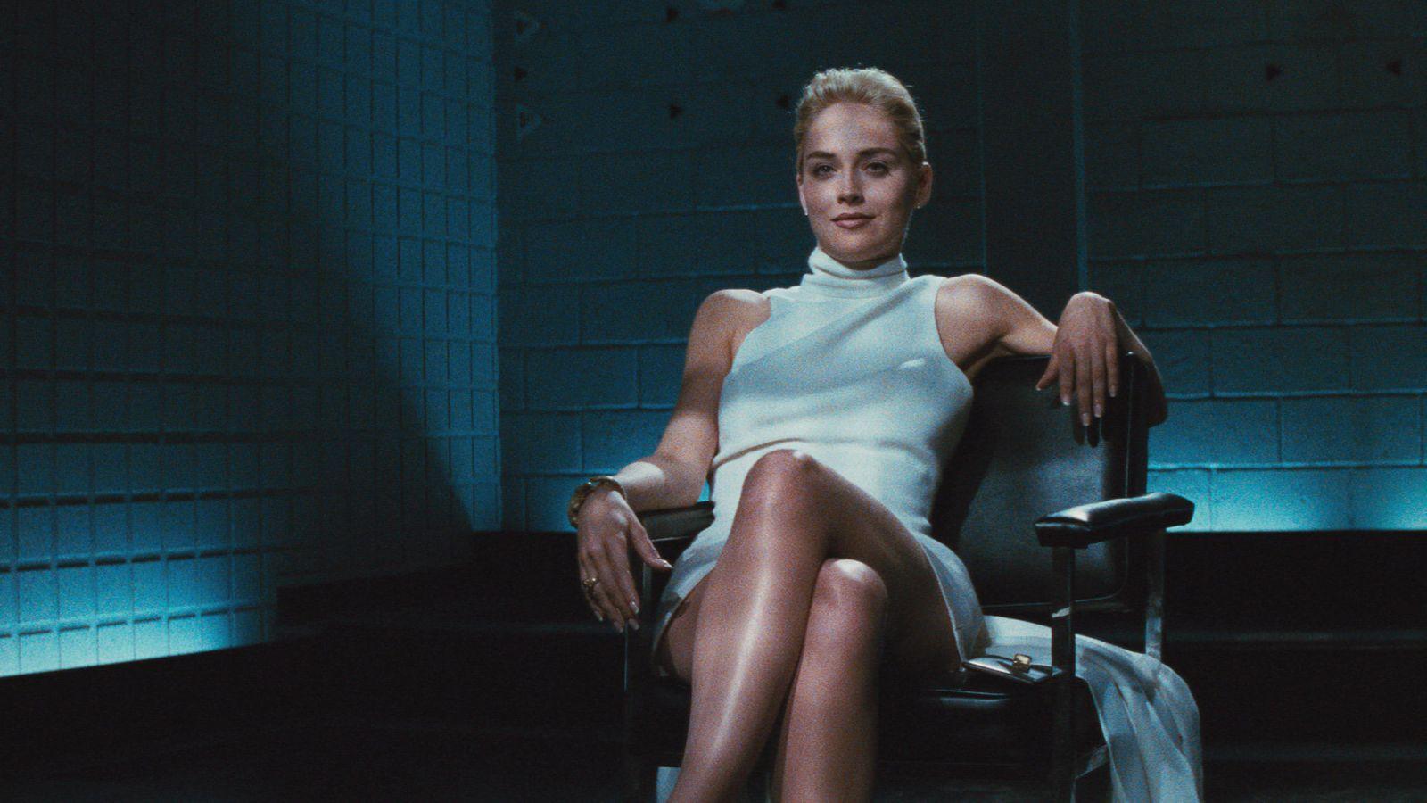 Шэрон Стоун в роли Кетрин на кадре из фильма «Основной инстинкт»