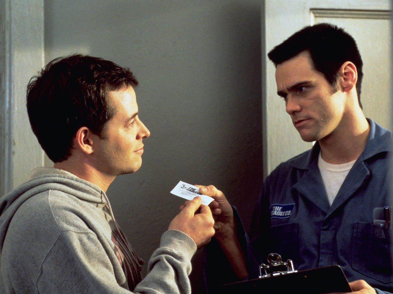 Джим Керри в роли Чипа на кадре из фильма «Кабельщик»