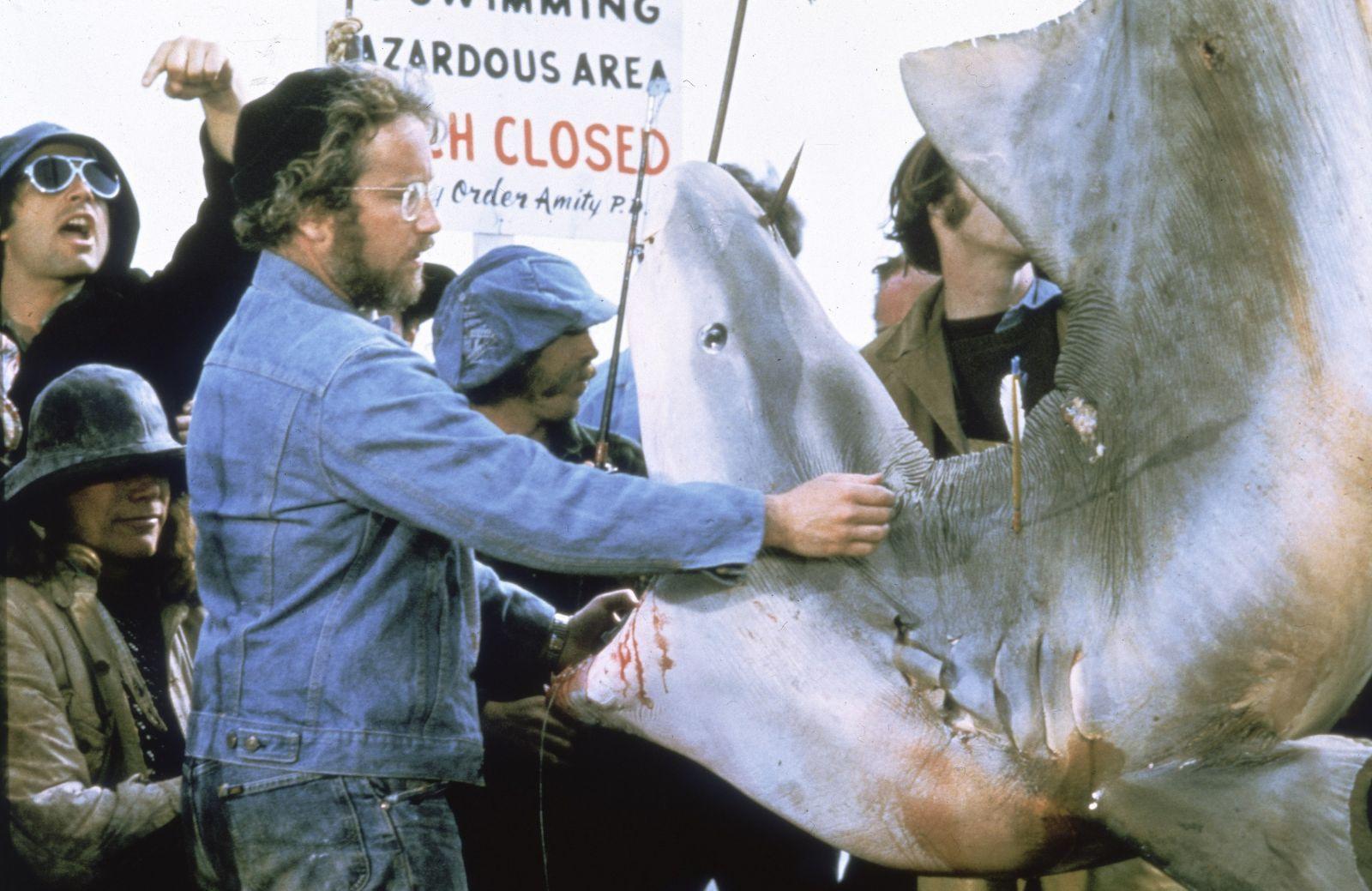 Ричард Дрейфусс в роли Хупера на кадре из фильма «Челюсти»