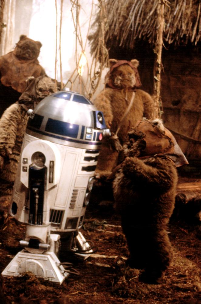 """Shot from the movie """"Star Wars: Episode VI - Return of the Jedi"""""""