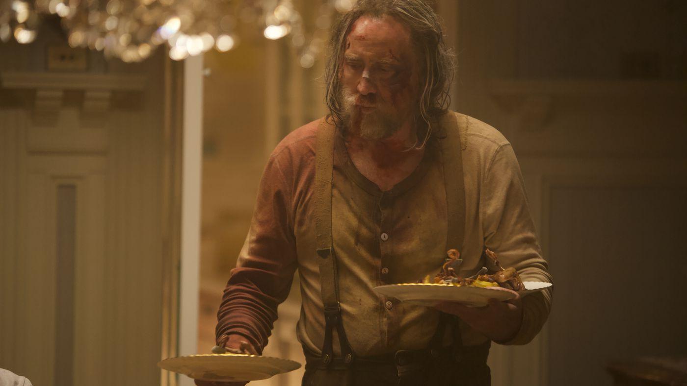 Николас Кейдж в роли Роба на кадре из фильма «Свинья»