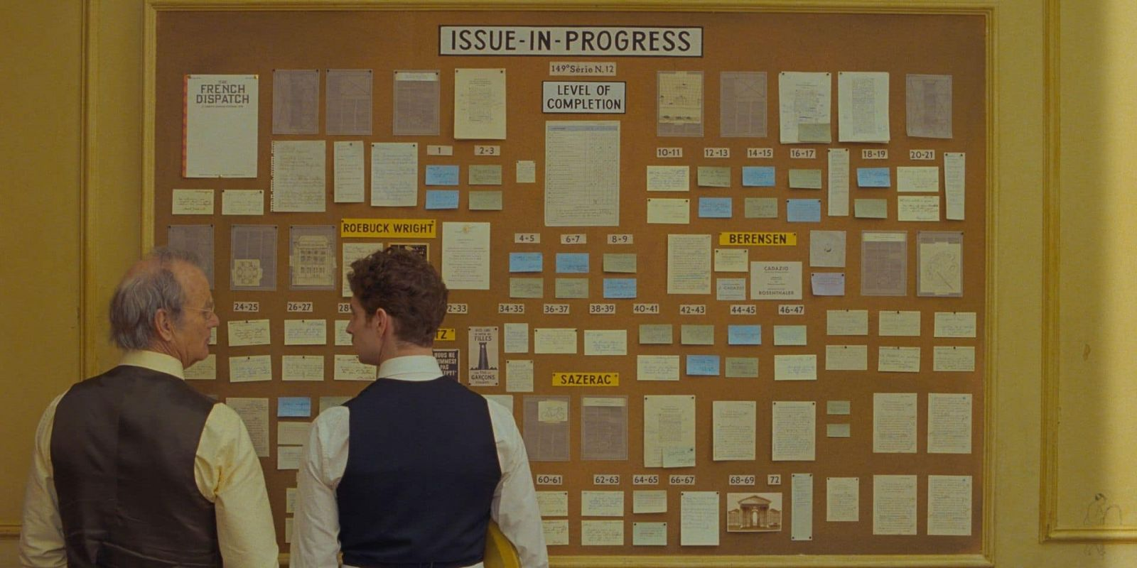 Билл Мюррей в роли Артура Хауицера на кадре из фильма «Французский вестник. Приложение к газете ''Либерти. Канзас ивнинг сан''»»