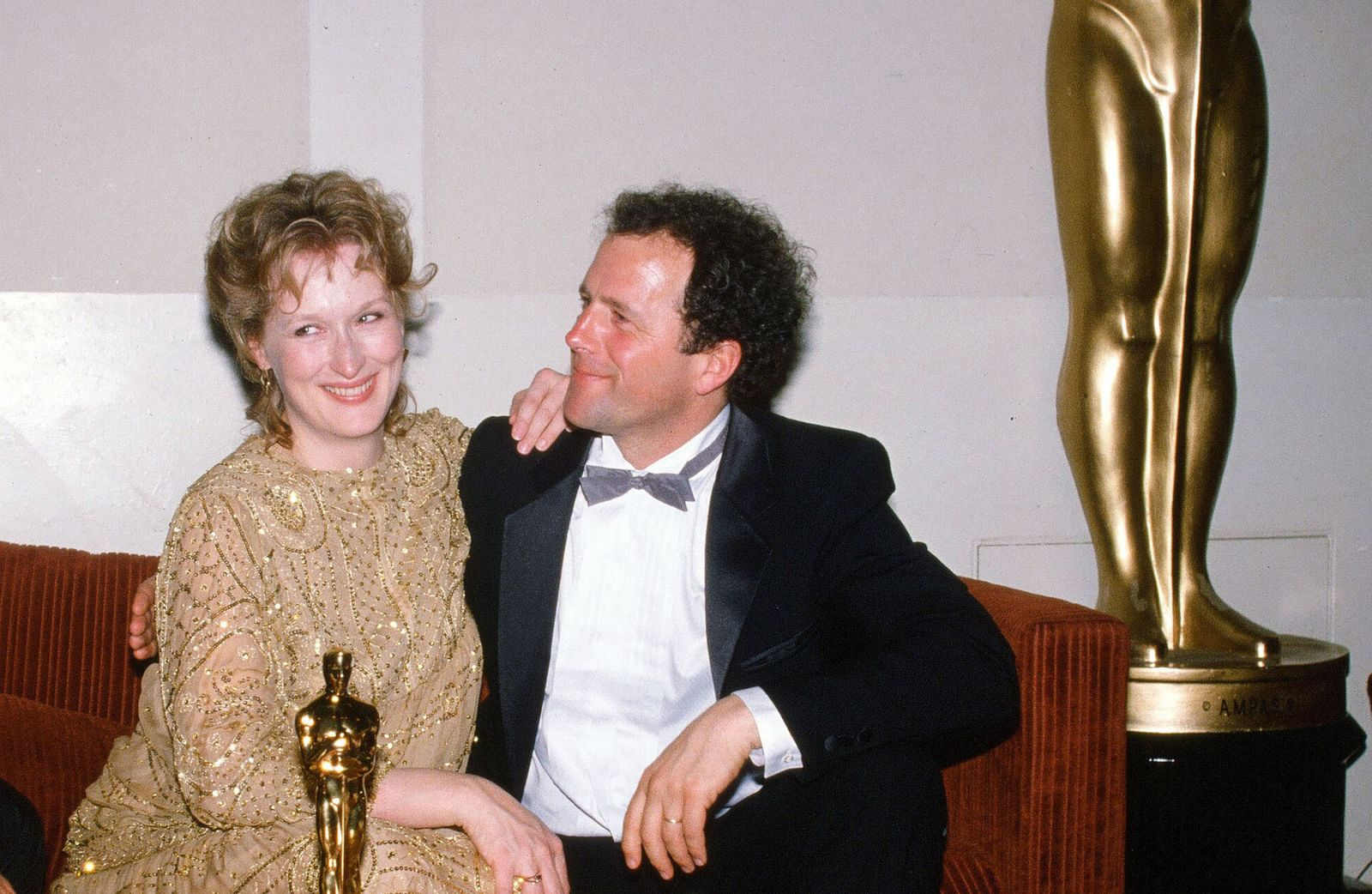 Мерил Стрип с мужем Доном Гаммером на премии «Оскар» 1983 года