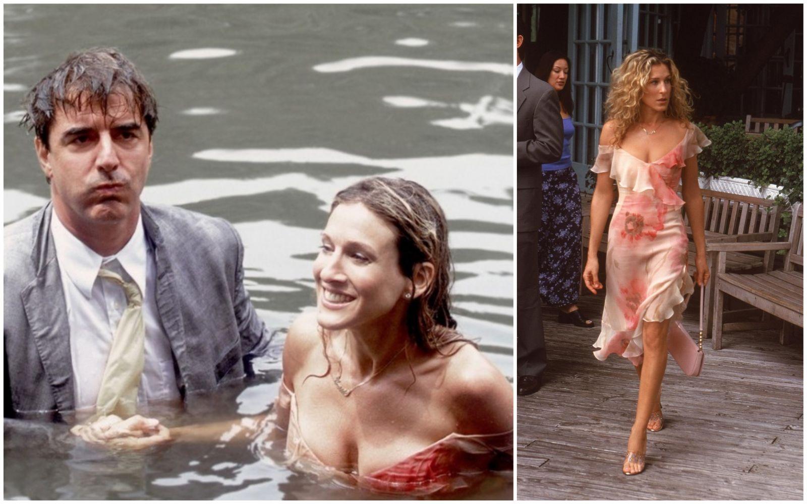 Сара Джессика Паркер в роли Кэри Брэдшоу на кадре из сериала «Секс в большом городе»