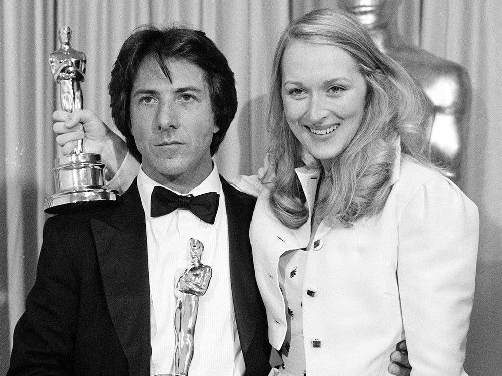 Мерил Стрип и Дастин Хоффман на премии «Оскар» 1980 года