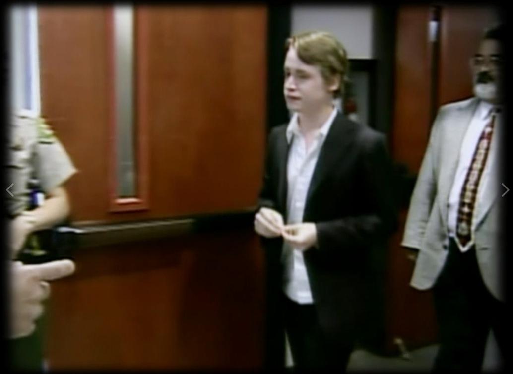 Маколей Калкин на судебном процессе в 2005 году