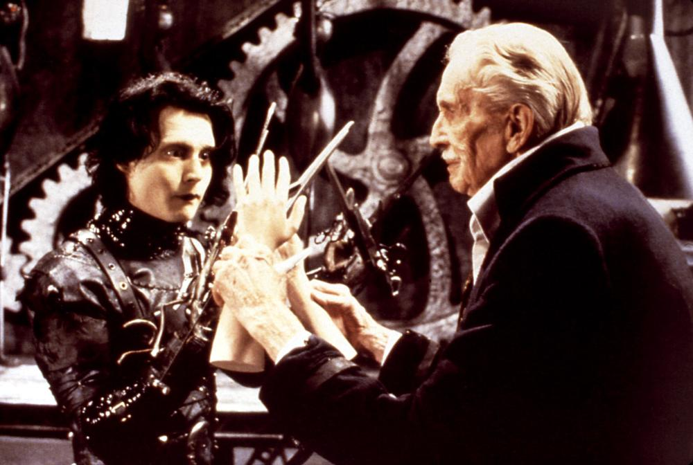 a comparison of edward scissorhand a film by tim burton and frankenstein a novel by mary shelley two
