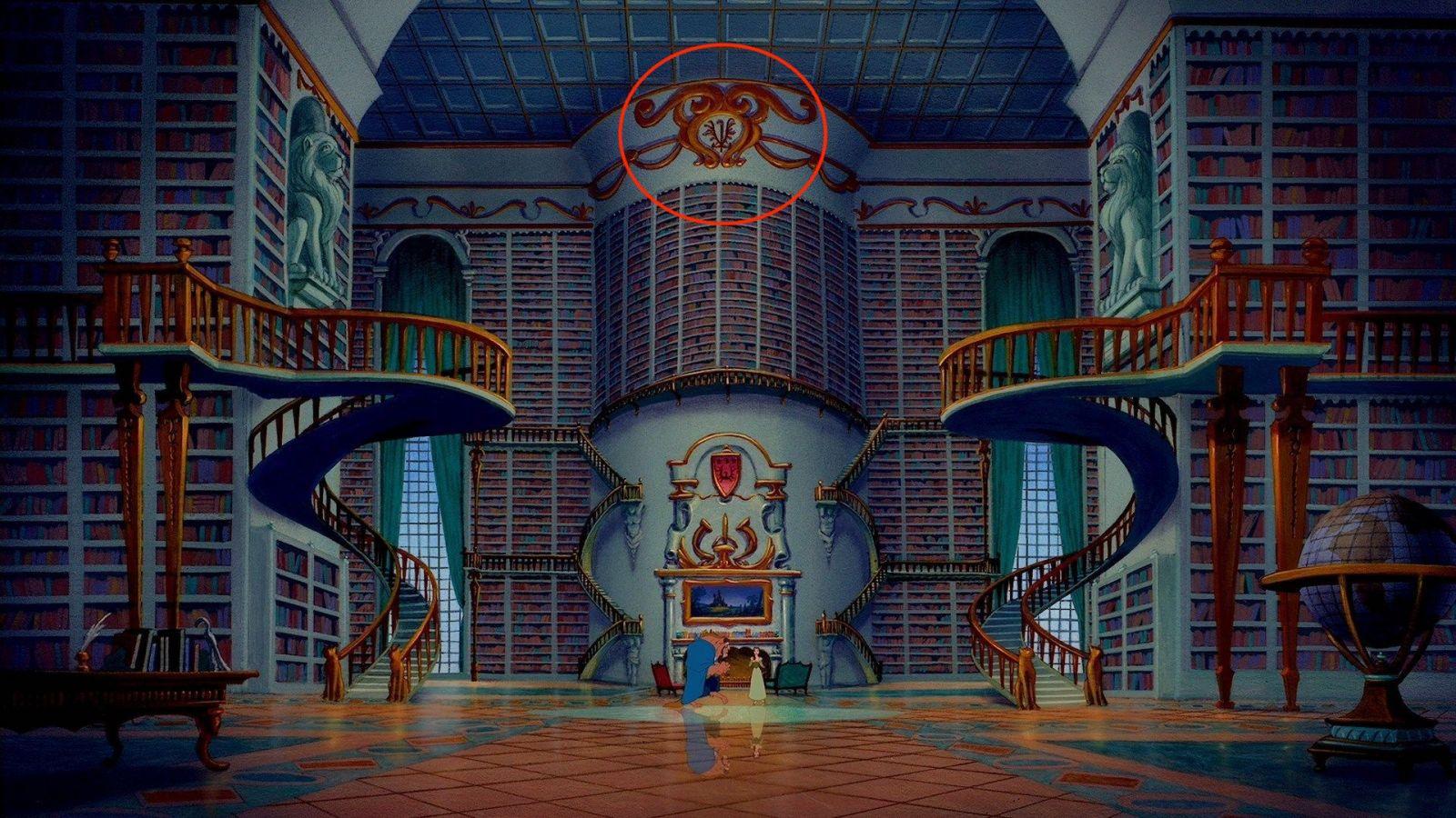 Кадр из мультфильма «Красавице и Чудовище»