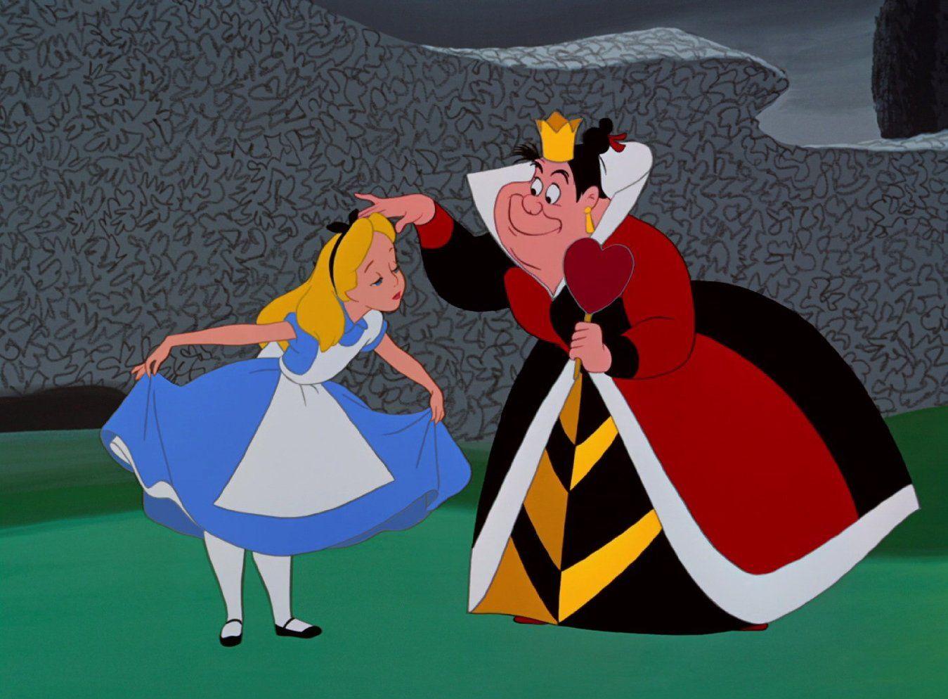 Алиса в стране чудес картинки из мультика королева
