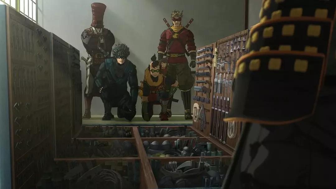 Кадр из мультфильма «Бэтмен-ниндзя»