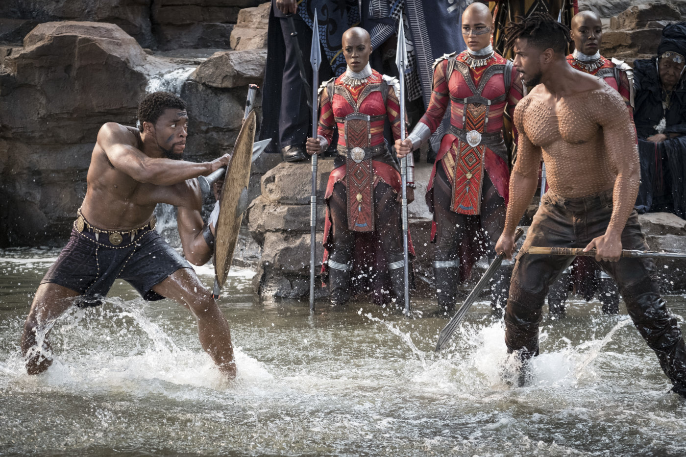 "Shot from the film ""The Black Panther"""