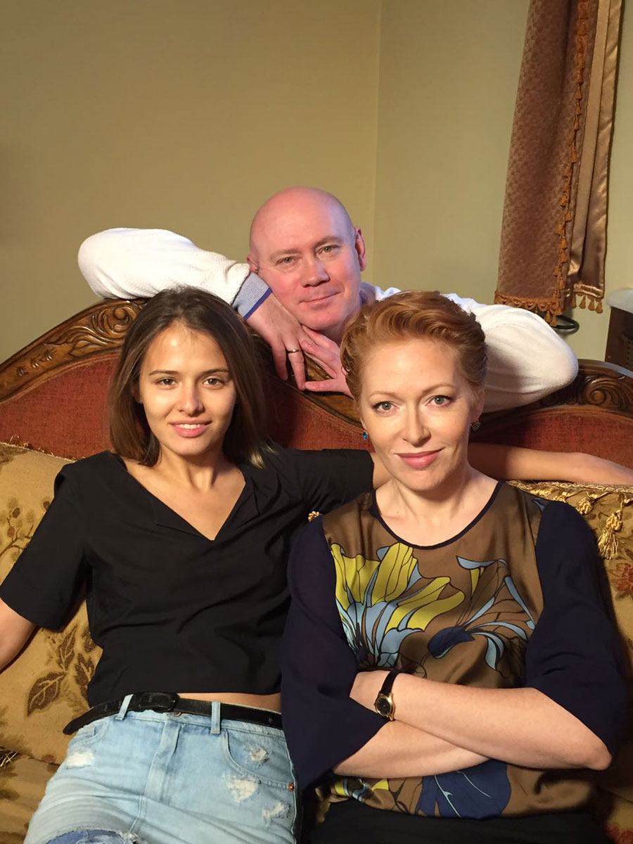 Фото со съемочной площадки сериала «Бывшие»