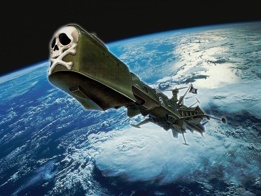«Аркадия» – первый пиратский корабль, поднявший знамя «Веселого Роджера» в космосе