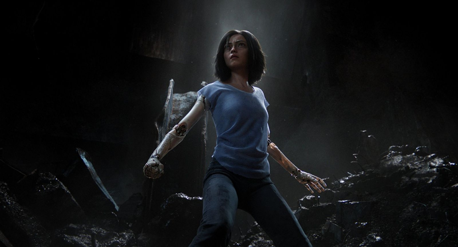 "Shot from the film ""Alita: Battle Angel"""