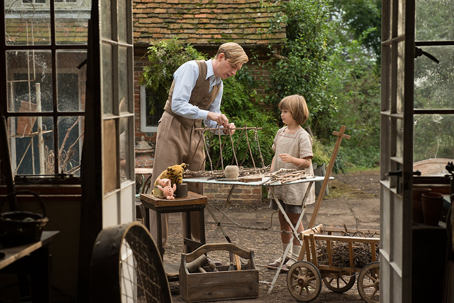 """Shot from the film """"Goodbye, Christopher Robin"""""""