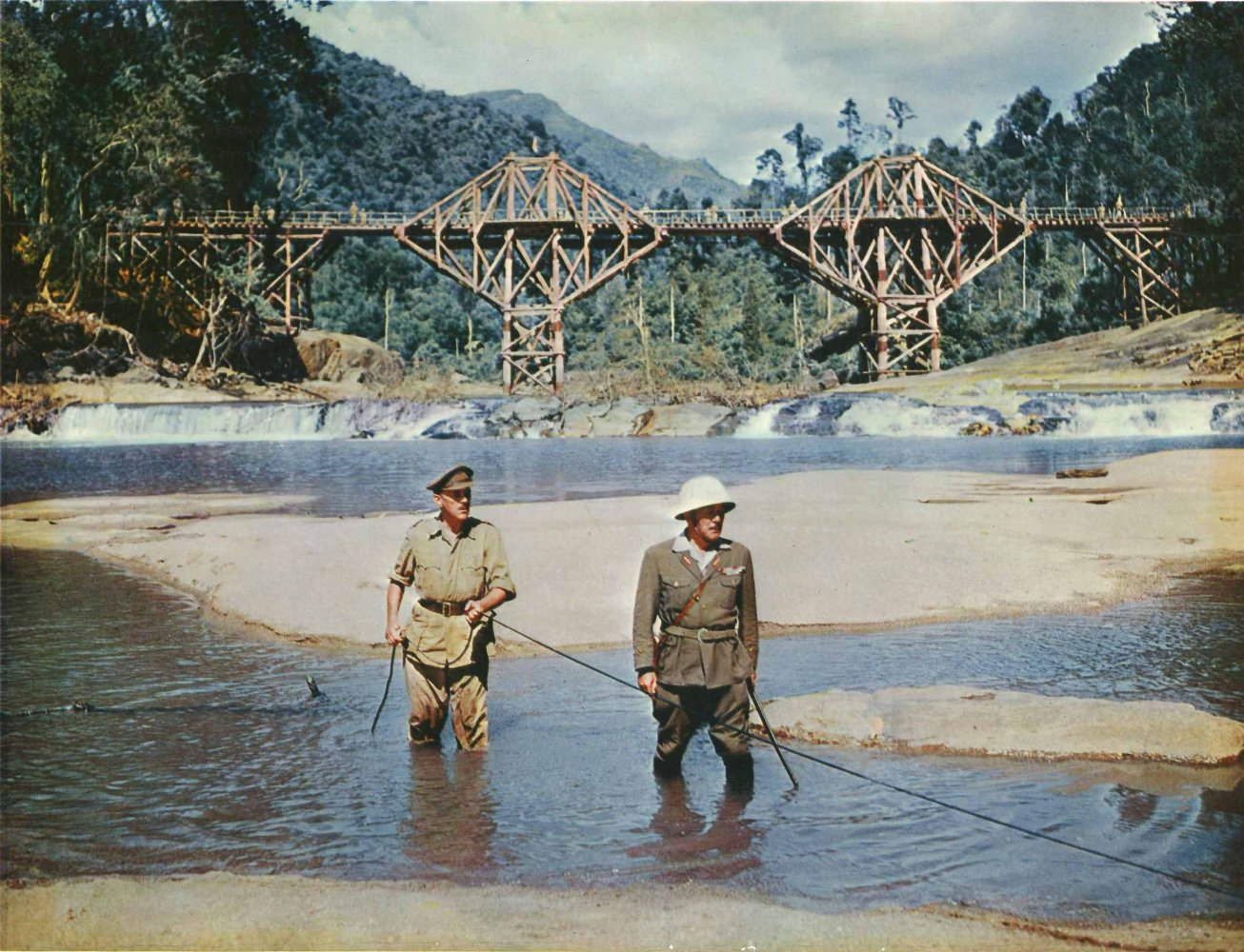 """Shot from the movie """"The Bridge over the River Kwai"""""""
