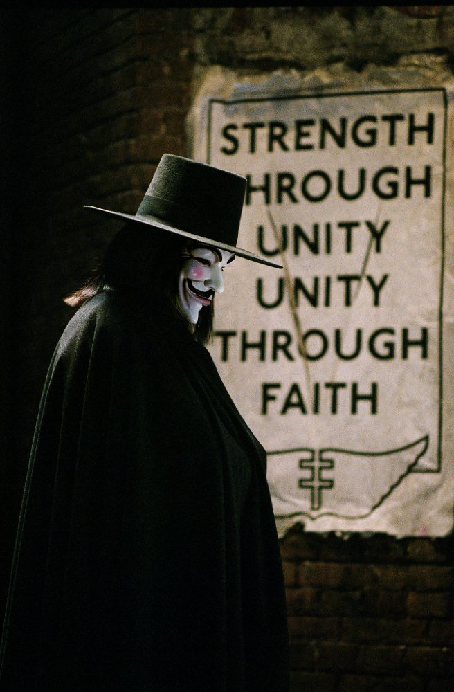 """A shot from the movie """"V means vendetta"""""""