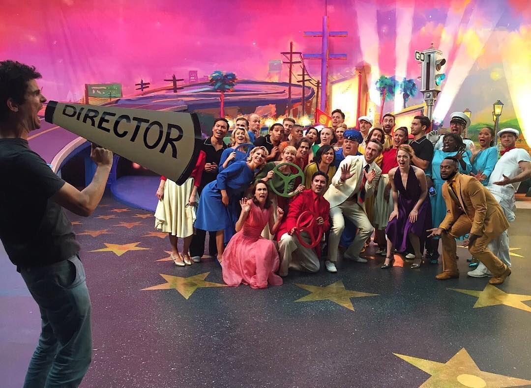 "Photo from the set of the film ""La La Land"""