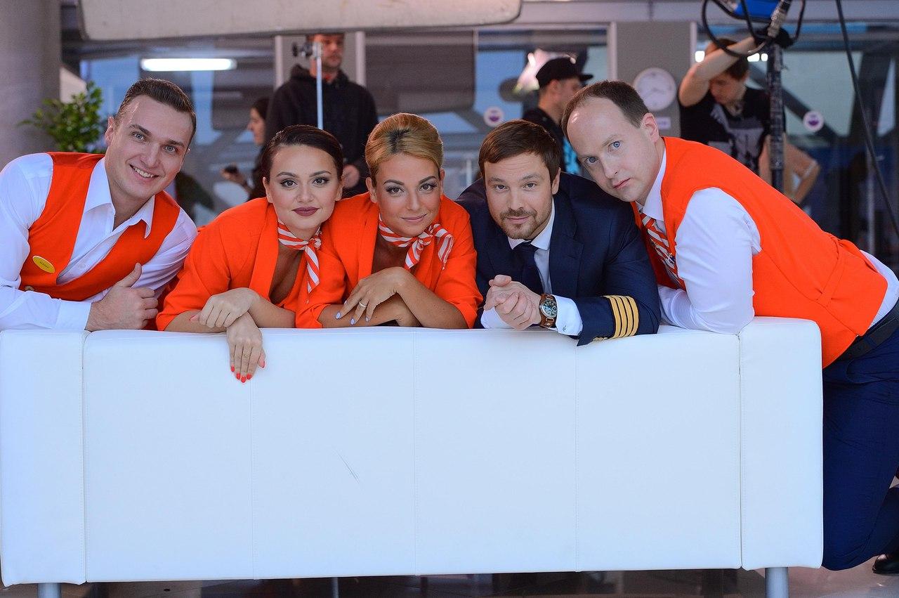 Фото со съемочной площадки сериала «Улетный экипаж»