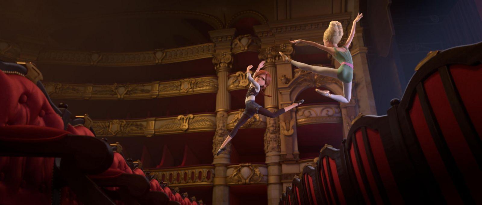 "A frame from the cartoon ""The Ballerina"""